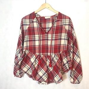 Altar'd State | Plaid Flannel Top